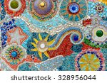 colorful wall at wat pha son... | Shutterstock . vector #328956044