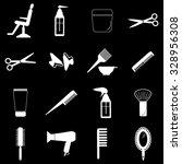 hairdressing icons set... | Shutterstock .eps vector #328956308