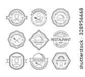 restaurant logo in liner style. ... | Shutterstock .eps vector #328956668