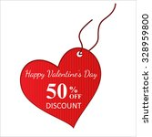 happy valentine's day sale label | Shutterstock .eps vector #328959800