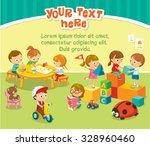 children's activity in the... | Shutterstock .eps vector #328960460