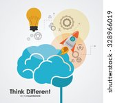 think different concept with... | Shutterstock .eps vector #328966019