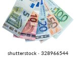 Euro Banknotes With Different...