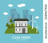 save energy concept with eco... | Shutterstock .eps vector #328967900