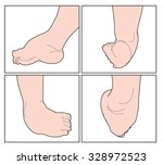 the right foot of a child...   Shutterstock .eps vector #328972523