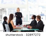 multi ethnic business people... | Shutterstock . vector #32897272