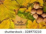 words hello autumn on the... | Shutterstock . vector #328973210