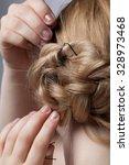 blond hair girl | Shutterstock . vector #328973468