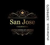 san jose california.vintage... | Shutterstock .eps vector #328984070