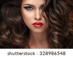 beautiful young girl in the... | Shutterstock . vector #328986548