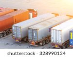 transportation of cargoes in... | Shutterstock . vector #328990124