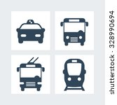 City Transport Simple Icons ...