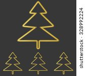 golden line pine tree logo...