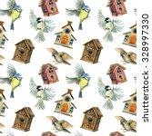 Flying Birds And Birdhouses...