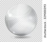 big white transparent glass... | Shutterstock .eps vector #329000393