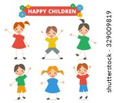 vector collection of happy... | Shutterstock .eps vector #329009819