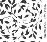 seamless leaves pattern. vector ...   Shutterstock .eps vector #329014136