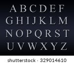 alphabet on a grey background | Shutterstock . vector #329014610