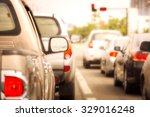 traffic jams in the city   rush ... | Shutterstock . vector #329016248