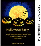 halloween party card.vector... | Shutterstock .eps vector #329017250