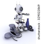 3d render of a robot in... | Shutterstock . vector #329022869
