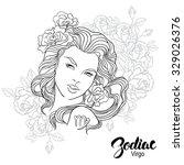 zodiac. illustration of virgo... | Shutterstock . vector #329026376
