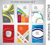 vector set of business flyer... | Shutterstock .eps vector #329027768