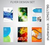 vector set of business flyer... | Shutterstock .eps vector #329027780