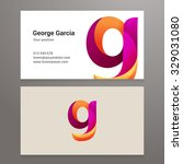 modern letter g business card... | Shutterstock .eps vector #329031080