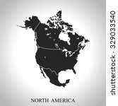 map of north america | Shutterstock .eps vector #329033540