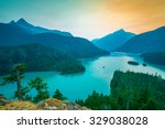 colorful of north cascade scene ... | Shutterstock . vector #329038028