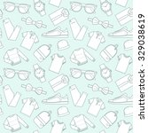 seamless patterns of male... | Shutterstock .eps vector #329038619