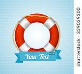 life bouy background sailor... | Shutterstock .eps vector #329039300