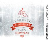 abstract silver winter ... | Shutterstock .eps vector #329043143