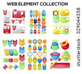 set of web sale elements... | Shutterstock .eps vector #329044358