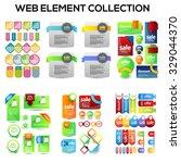 set of web sale elements... | Shutterstock .eps vector #329044370