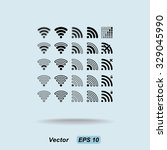 wireless sign icon  vector... | Shutterstock .eps vector #329045990