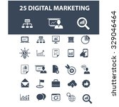 digital marketing icons | Shutterstock .eps vector #329046464