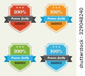 premium quality badges | Shutterstock .eps vector #329048240