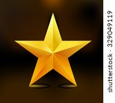 single golden star shine on... | Shutterstock .eps vector #329049119