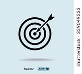 darts target sign icon  vector... | Shutterstock .eps vector #329049233
