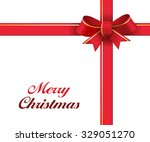 realistic red gift ribbons with ... | Shutterstock .eps vector #329051270
