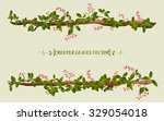 border of creeper flower vine... | Shutterstock .eps vector #329054018