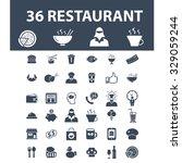 restaurant icons | Shutterstock .eps vector #329059244