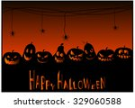 halloween card or background.... | Shutterstock .eps vector #329060588