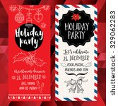 vector christmas party... | Shutterstock .eps vector #329062283