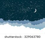 vector background. starry night ...