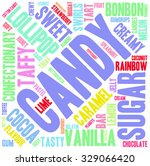 candy word cloud on a white... | Shutterstock .eps vector #329066420