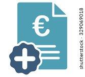 euro medical invoice vector... | Shutterstock .eps vector #329069018