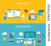 web and graphic banner flat... | Shutterstock .eps vector #329071910